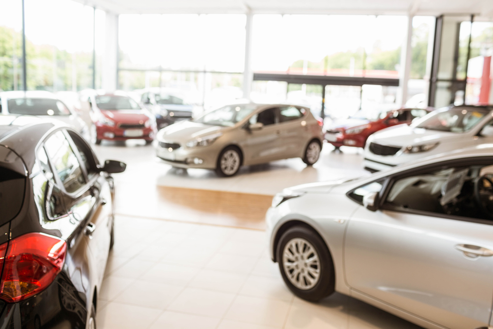 car dealership with background music for showrooms playing